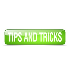 Tips and tricks green square 3d realistic isolated vector