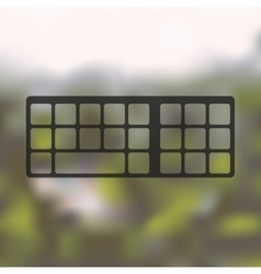 Keyboard icon on blurred background vector
