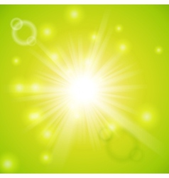 Abstract magic light green background vector image