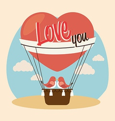 Air balloon over beige background vector