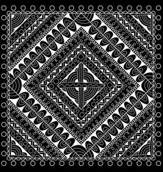 black and white abstract bandana print vector image vector image