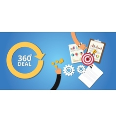 Business deal 360 degree concept marketing vector
