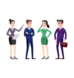 business people group human resources flat vector image vector image