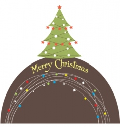 Christmas tree illustration vector image vector image