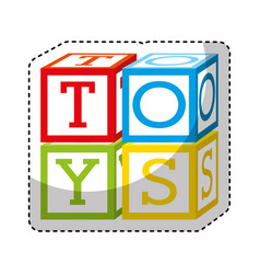 cubes blocks toy isolated icon vector image vector image