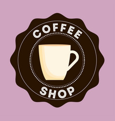 Cup of coffee shop design vector