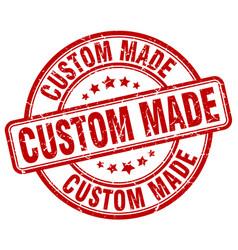 Custom made red grunge round vintage rubber stamp vector