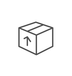Delivery box line icon logistics package sign vector