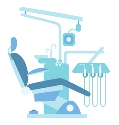 Dentist medical office chair vector