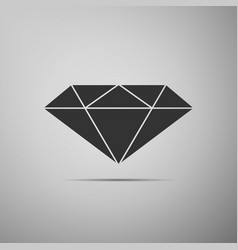 diamond sign icon jewelry symbol gem stone vector image