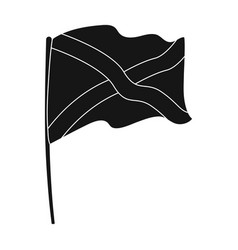 flag of scotland icon in black style isolated on vector image