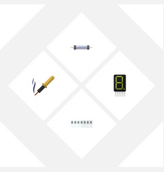 Flat technology set of display resistor memory vector