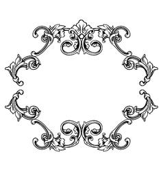 Floral label frame 10 vector image