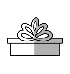 Gift box ribbon bow party shadow vector
