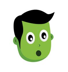 Green zombie monster character vector