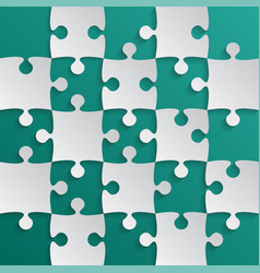 Grey puzzle pieces teal - jigsaw field chess vector