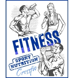 GYM bodybuilding - Fitness club vector image vector image
