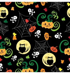 Halloween background Template for design vector image vector image