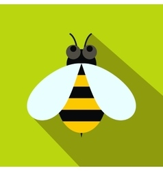 Honey bee icon flat style vector
