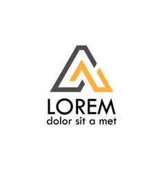 Line letter a logo vector