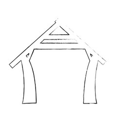 Manger house icon vector