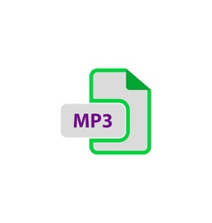 MP3 Icon vector image