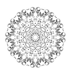 Oriental round ornament with arabesques elements vector