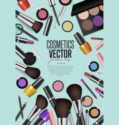 professional fashion makeup realism banner vector image vector image