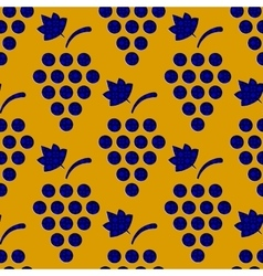 Seamless Grapes Pattern vector image vector image