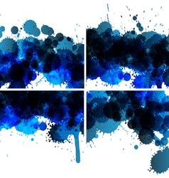 set of ink blots backgrounds vector image