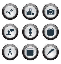 Set of simple designicons vector
