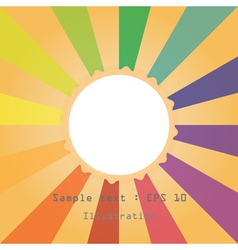 sun and colourful ray vector image