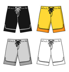 Swimming trunks icon in cartoon style isolated on vector