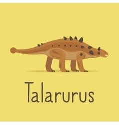 Talarurus dinosaur colorful card vector