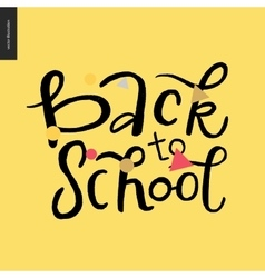 Back to school lettering vector