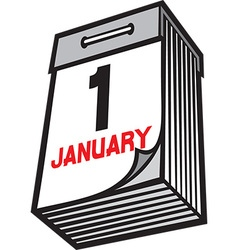 Tear off paper calendar vector