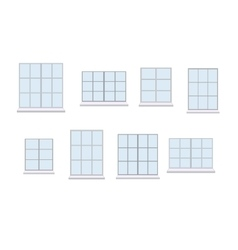 Collection of various window unit vector