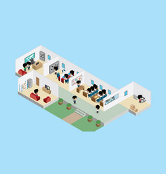 Office interior with businessmen business concept vector