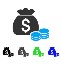 Money bag flat icon vector