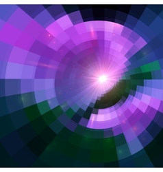 Violet abstract circle tiled background vector