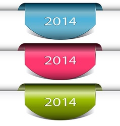 New year ribbon with 2014 vector