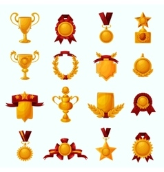 Awards cartoon set vector