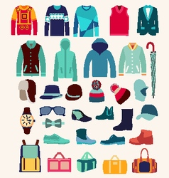 Collection of man clothing vector