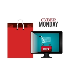 Cyber monday shopping season design vector