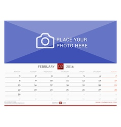Wall monthly calendar for 2016 year design print vector