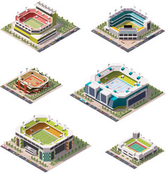 Isometric stadiums set vector