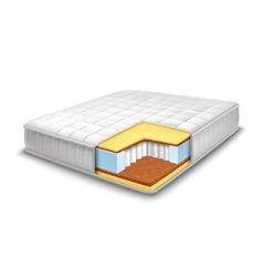 Mattress cut out with layers view vector
