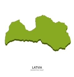 Isometric map of latvia detailed vector