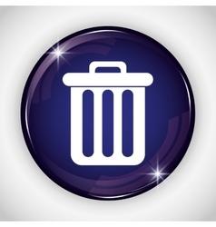 Trash button icon social media design vector