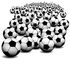 Soccer ball on perspective vector